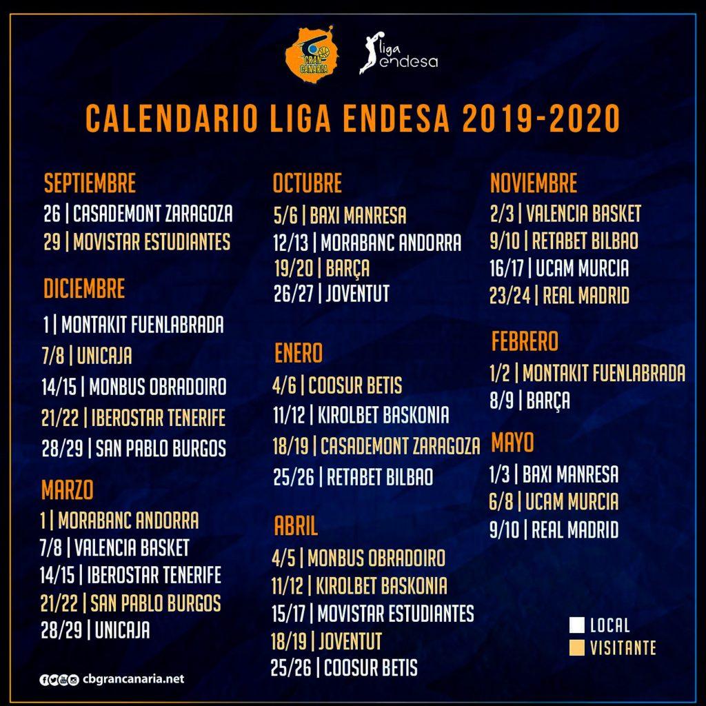 Calendario Unicaja.El Herbalife Gran Canaria Arrancara El Curso Recibiendo Al