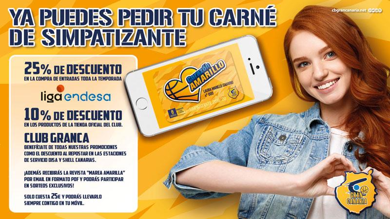 Corazón Amarillo - Simpatizante CB Gran Canaria