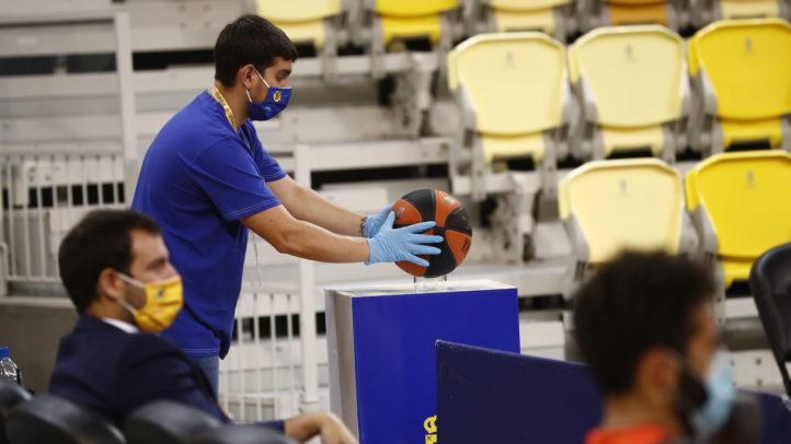 El protocolo #antiCOVID en el Gran Canaria Arena (20.09.20)